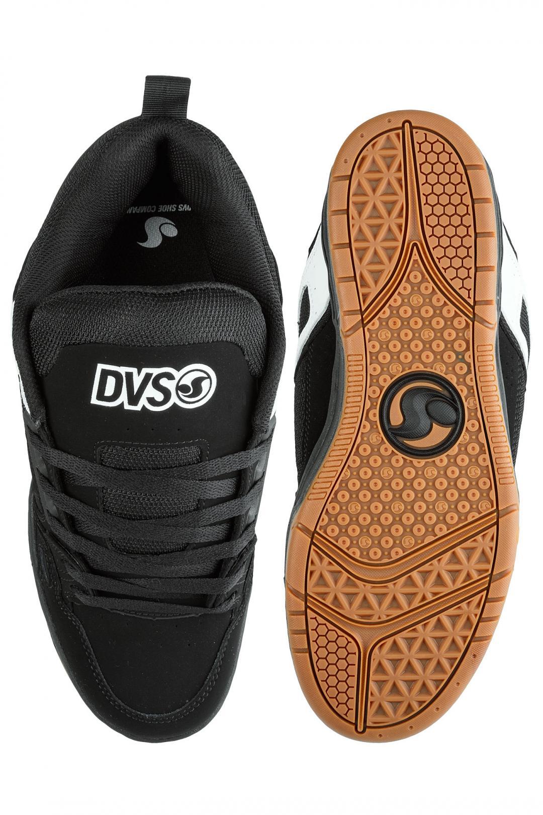 Uomo DVS Comanche black white nubuck | Sneakers low top