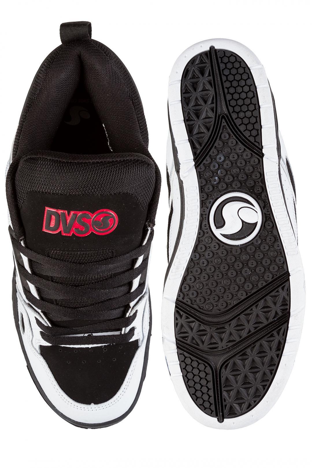 Uomo DVS Comanche Leather black white red   Scarpe da skate