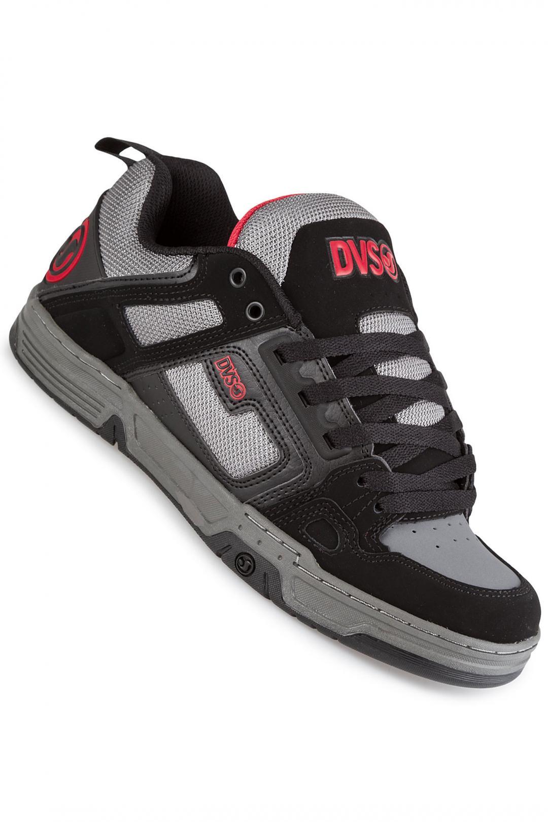 Uomo DVS Comanche Leather Nubuck black charcoal | Sneaker