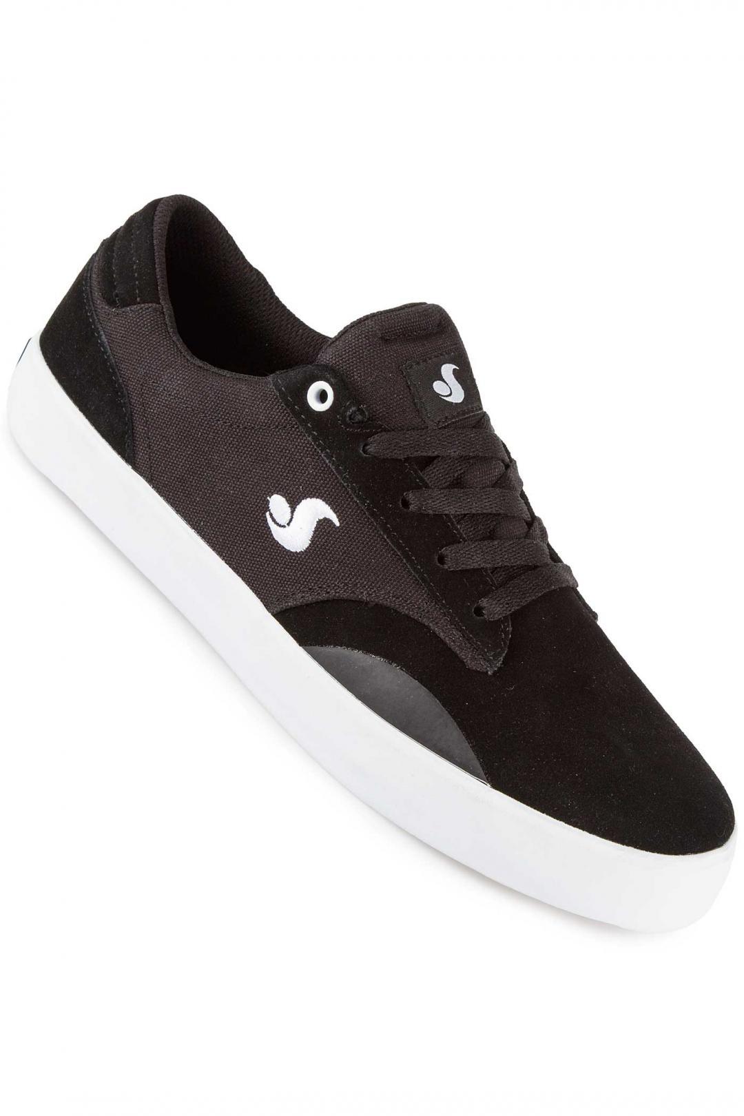 Uomo DVS Daewon 14 Suede Canvas black white   Sneakers low top