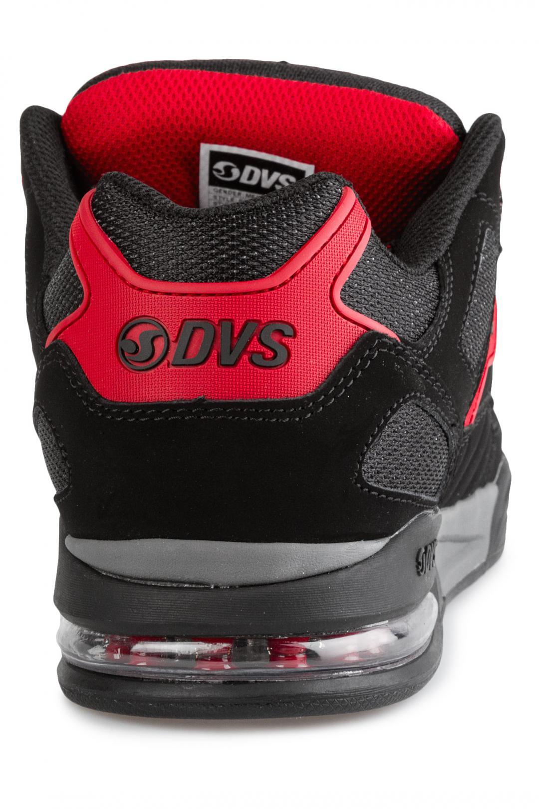 Uomo DVS Drone+ Nubuck black red | Scarpe da skate