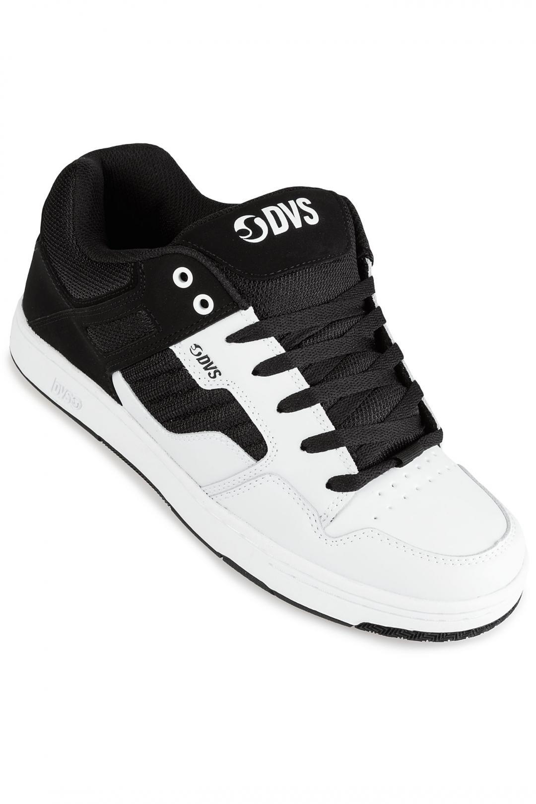 Uomo DVS Enduro 125 white black leather   Sneakers low top