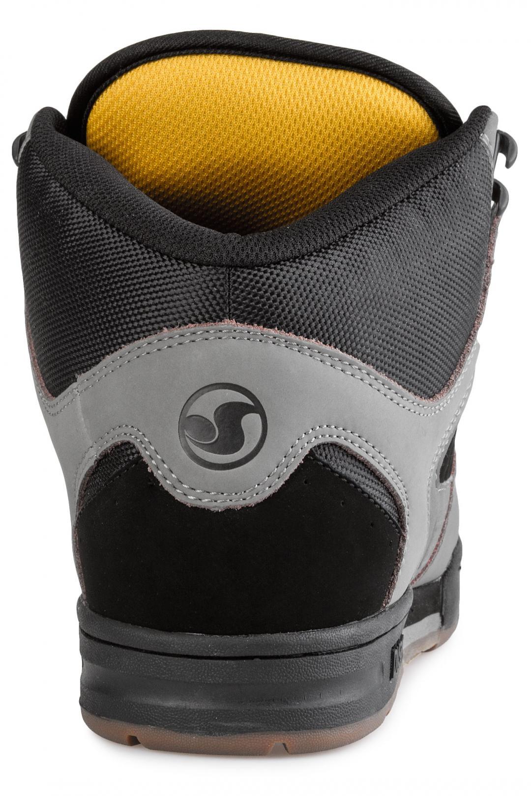 Uomo DVS Militia Boot Nubuck charcoal black gold | Sneakers high top