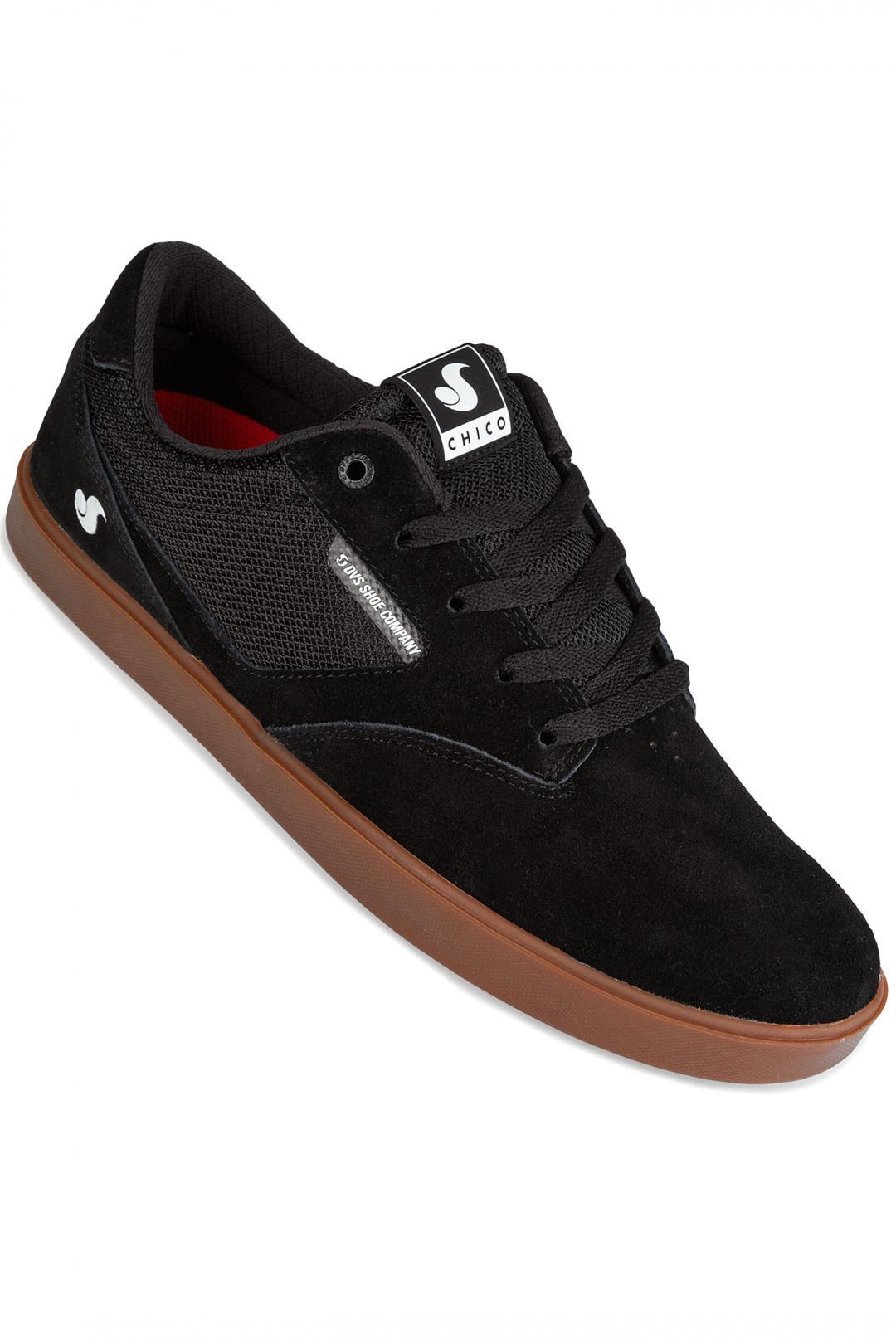Uomo DVS Pressure SC Suede black gum chico | Sneakers low top