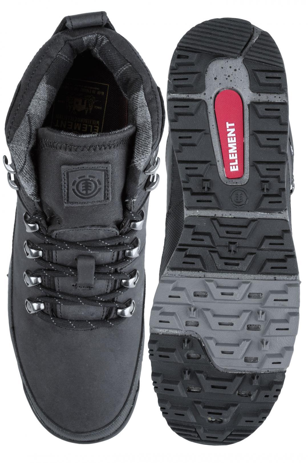 Uomo Element Donnelly black premium   Scarpe invernali