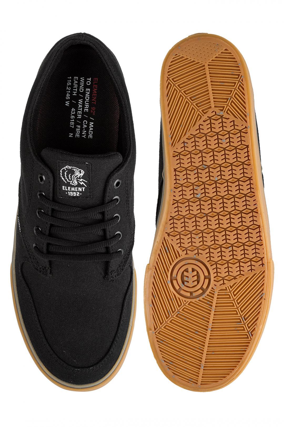 Uomo Element Topaz C3 black gum | Sneakers low top