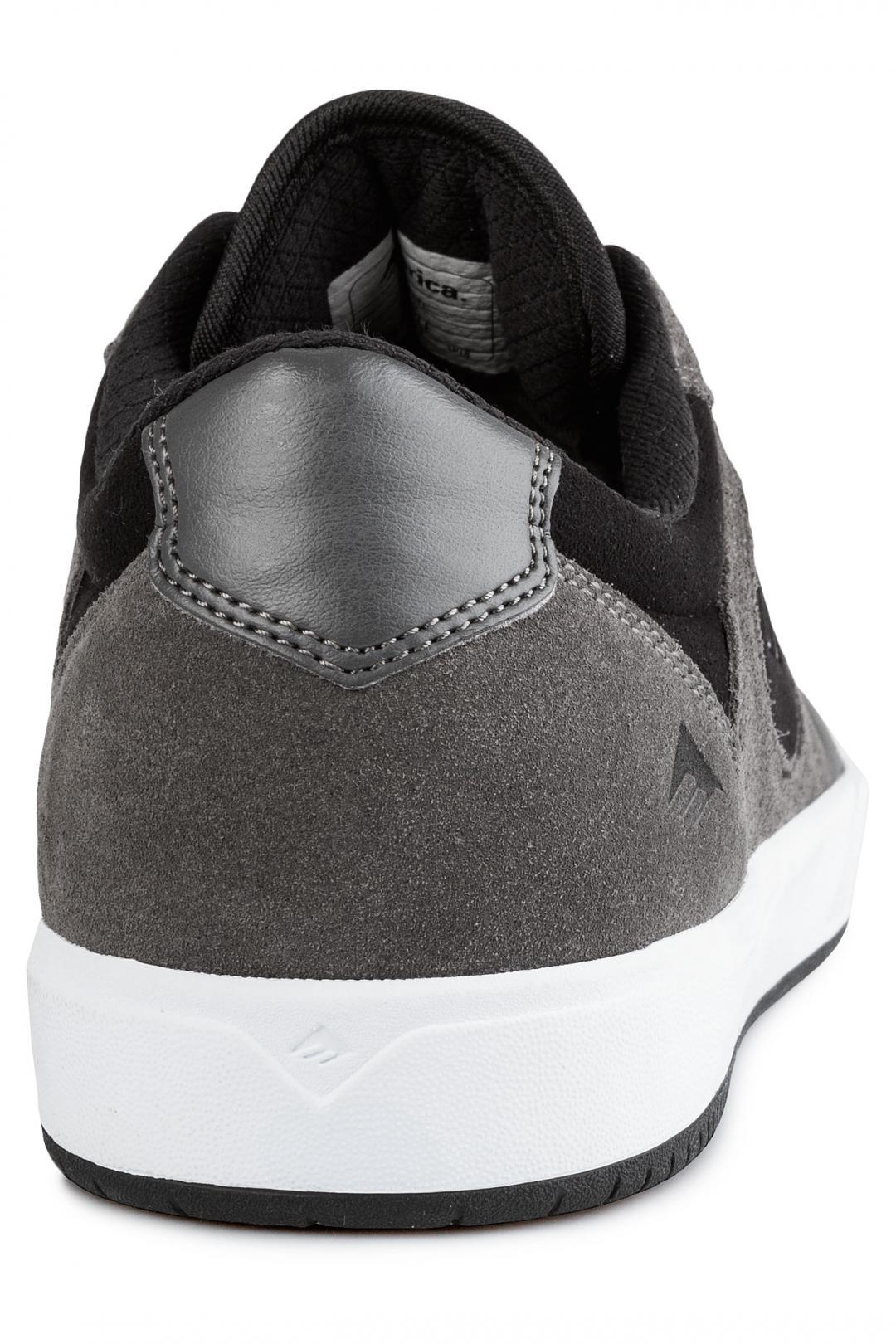 Uomo Emerica Dissent grey black white   Scarpe da skate