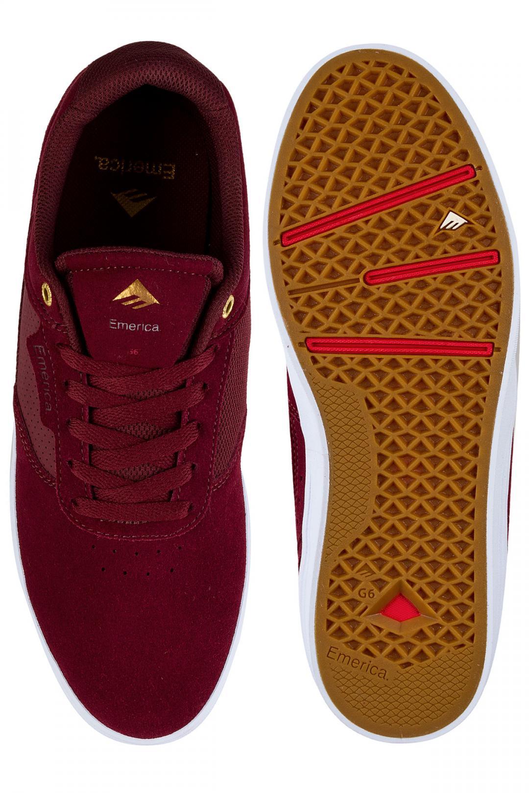 Uomo Emerica Empire G6 burgundy white | Sneaker