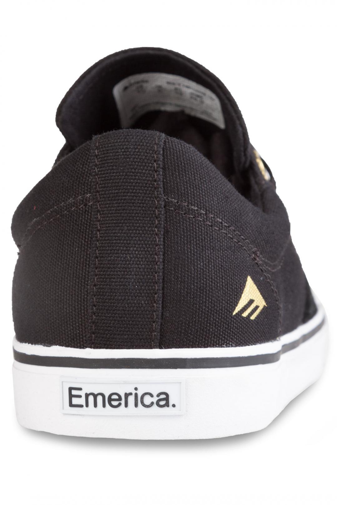 Uomo Emerica Indicator Low black white | Scarpe da skate
