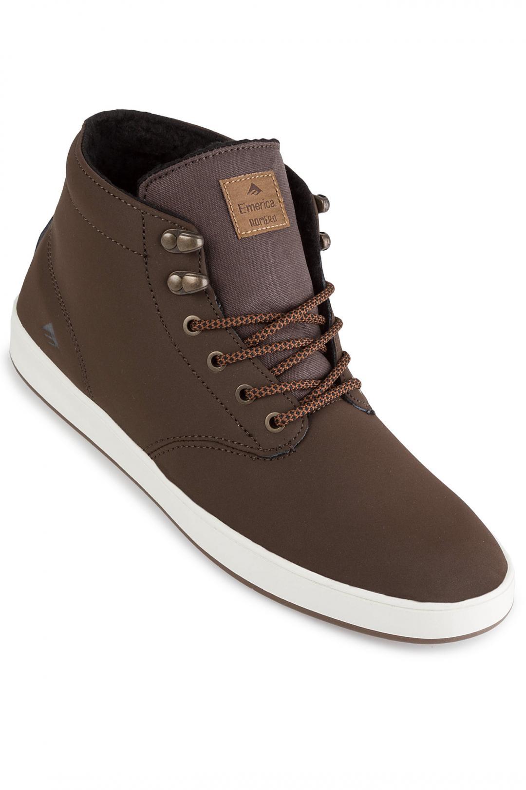 Uomo Emerica Romero Laced High weatherized brown | Sneaker