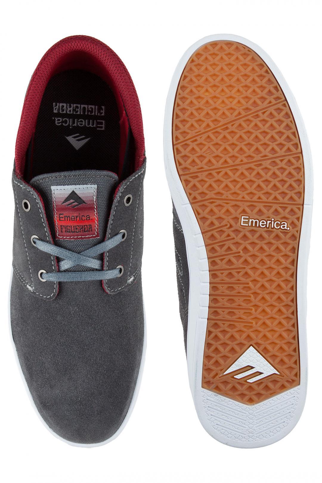 Uomo Emerica The Figueroa grey burgundy   Sneaker