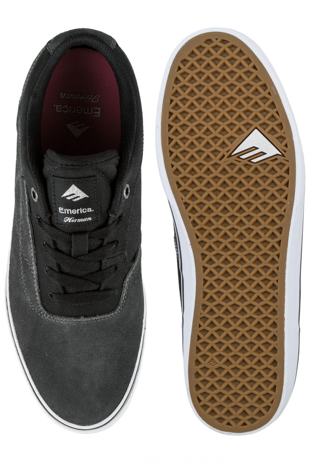 Uomo Emerica The Herman G6 Vulc black print | Scarpe da skate