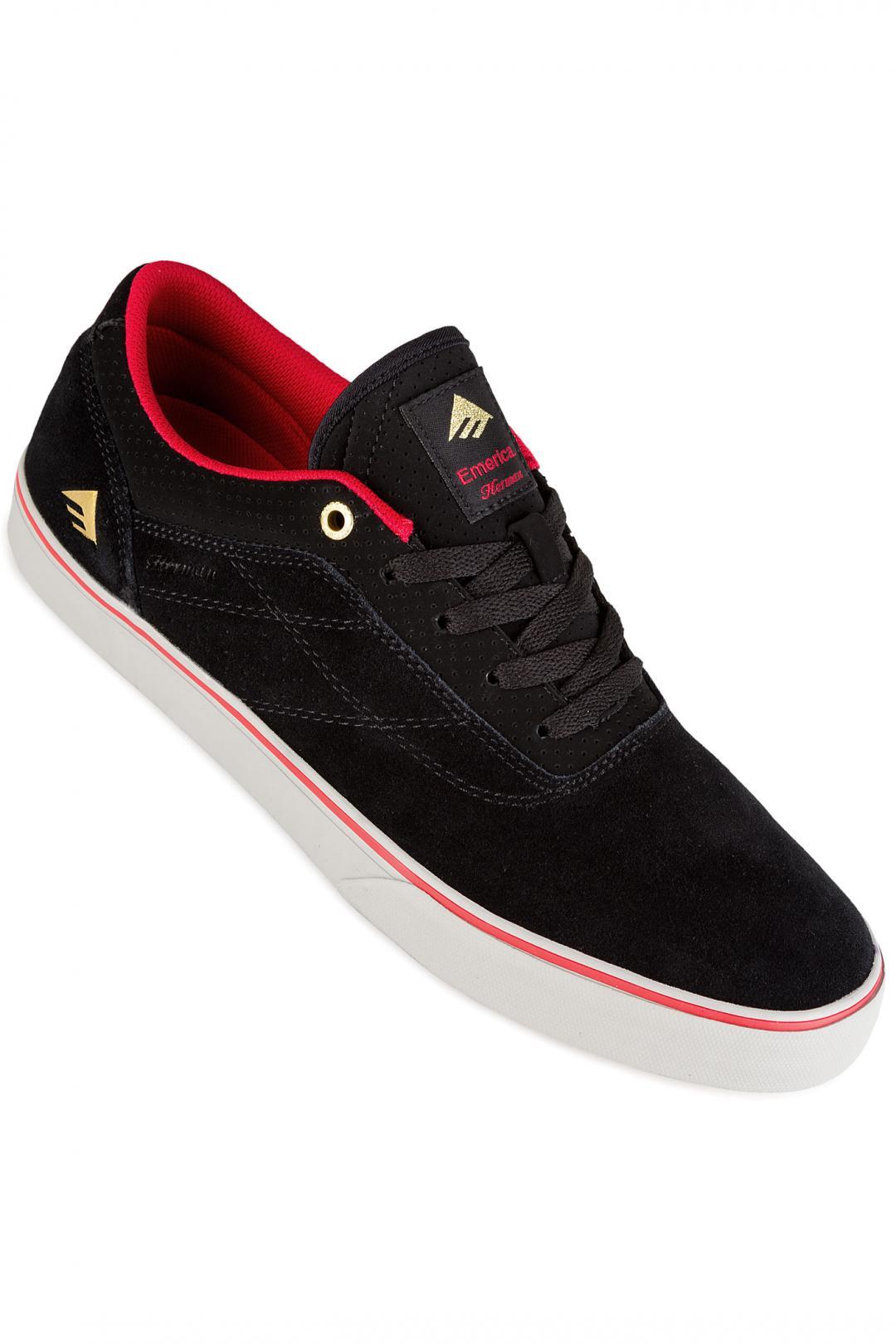 Uomo Emerica The Herman G6 Vulc black red grey   Sneakers low top