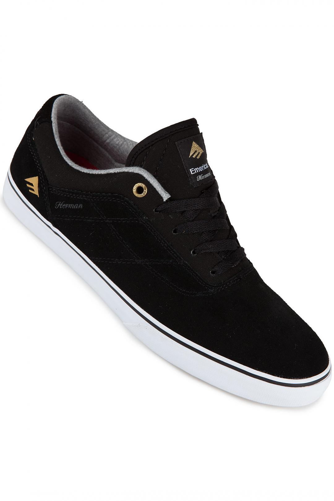 Uomo Emerica The Herman G6 Vulc black white | Sneakers low top