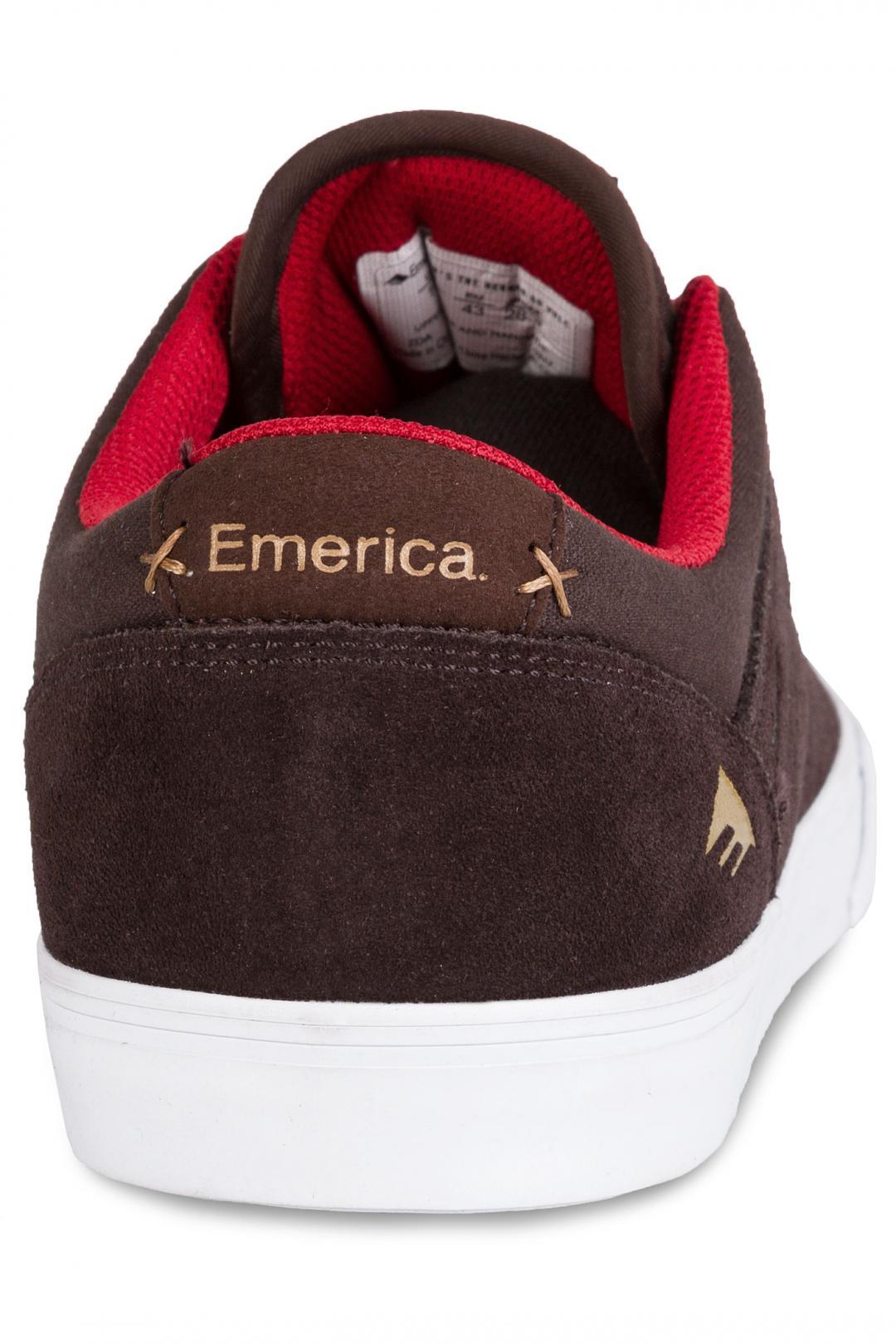 Uomo Emerica The Herman G6 Vulc brown white | Scarpe da skate
