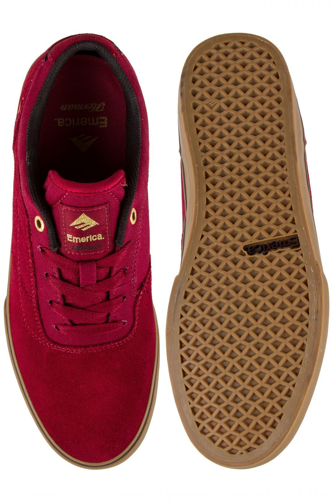 Uomo Emerica The Herman G6 Vulc burgundy gum | Sneaker