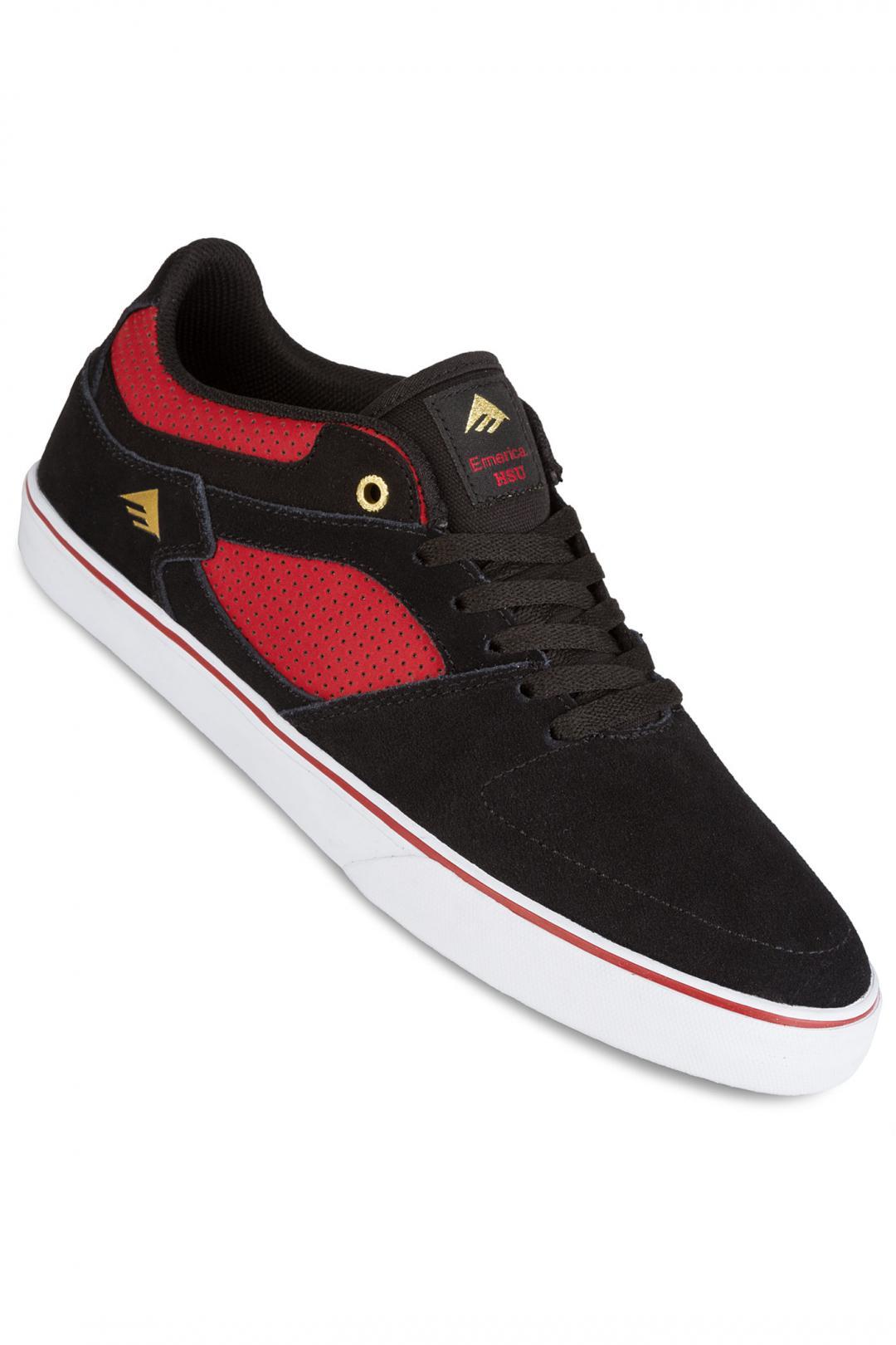 Uomo Emerica The HSU Low Vulc black red | Sneakers low top