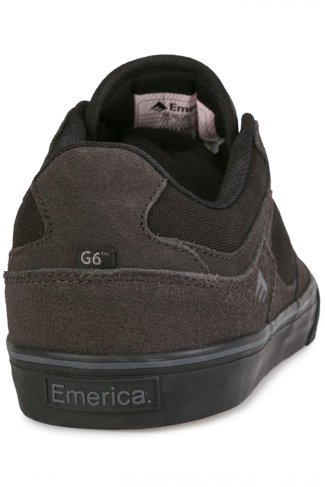 Uomo Emerica The HSU Low Vulc dark grey black | Scarpe da skate