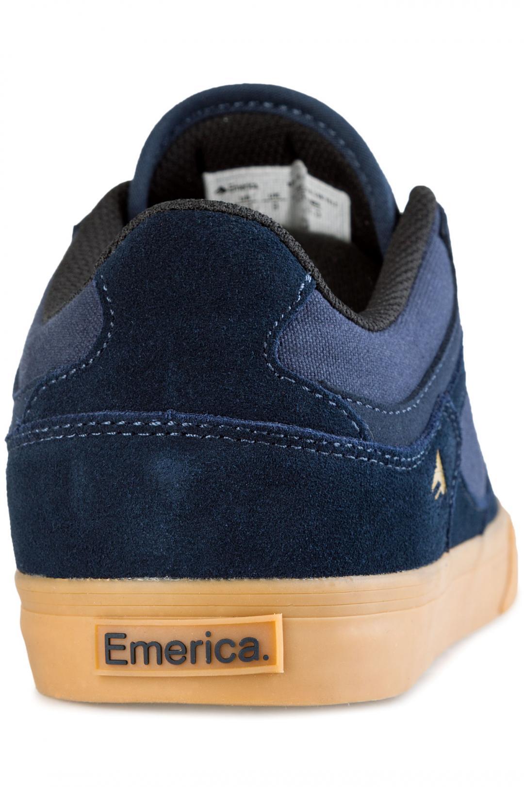 Uomo Emerica The HSU Low Vulc navy gum   Sneakers low top