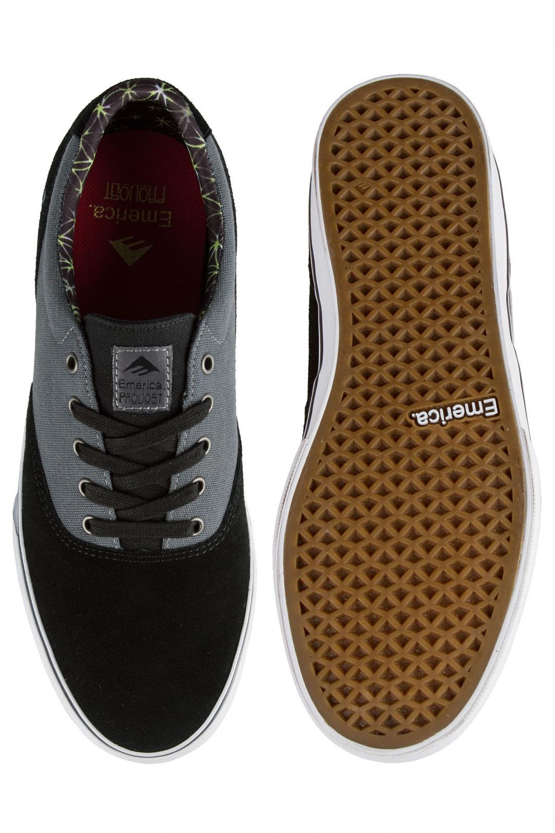 Uomo Emerica The Provost Slim Vulc black grey white | Sneaker
