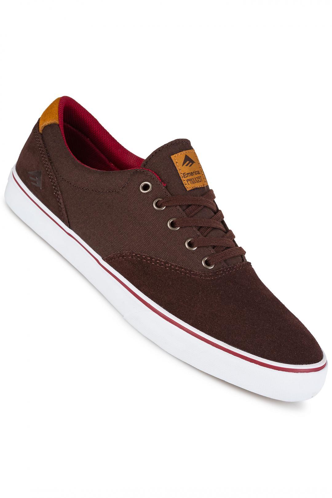 Uomo Emerica The Provost Slim Vulc brown white   Sneaker