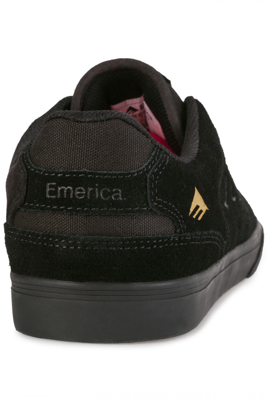 Uomo Emerica The Reynolds Low Vulc black gold | Sneakers low top
