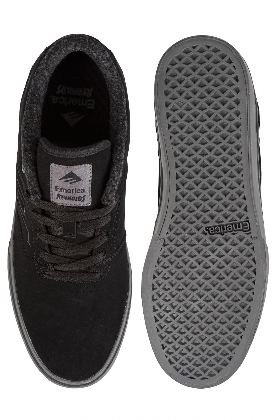 Uomo Emerica The Reynolds Low Vulc black grey | Scarpe da skate