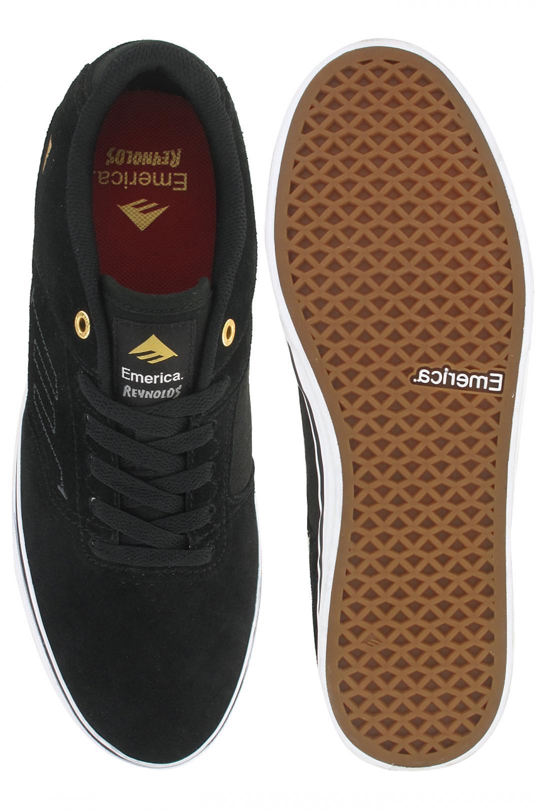 Uomo Emerica The Reynolds Low Vulc black white | Sneakers low top