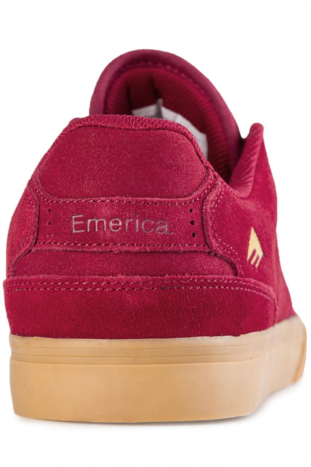 Uomo Emerica The Reynolds Low Vulc burgundy gum | Sneakers low top