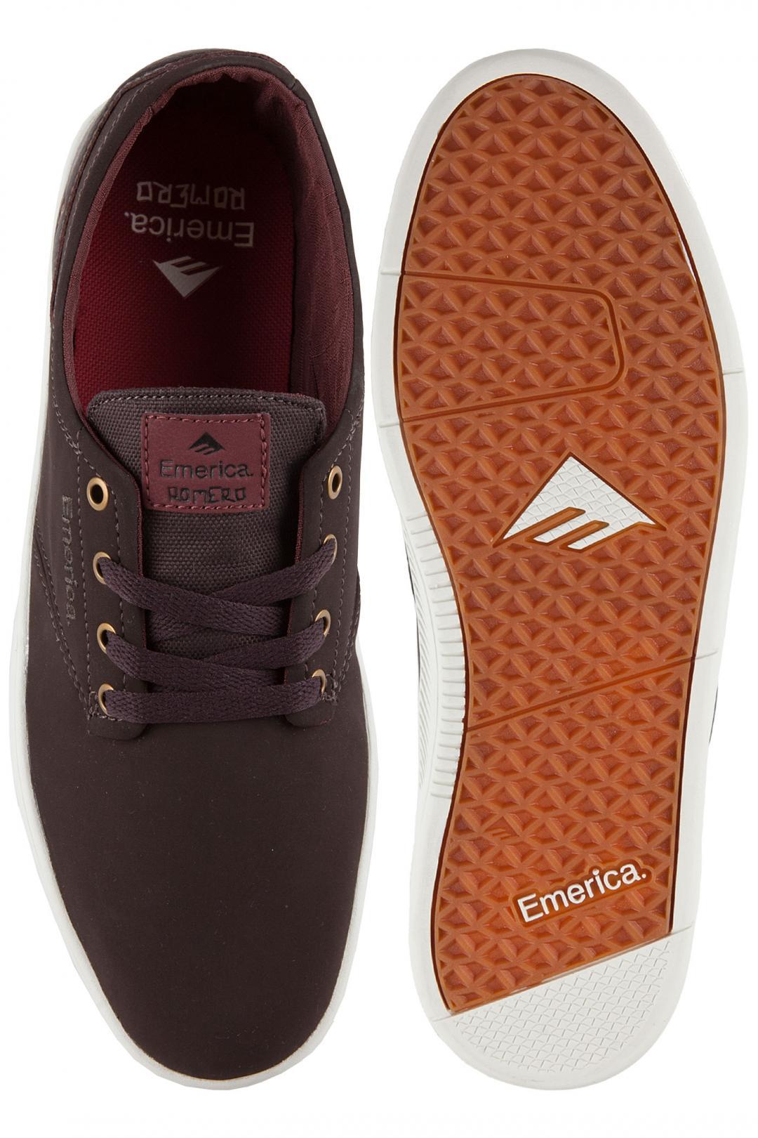Uomo Emerica The Romero Laced dark brown | Scarpe da skate