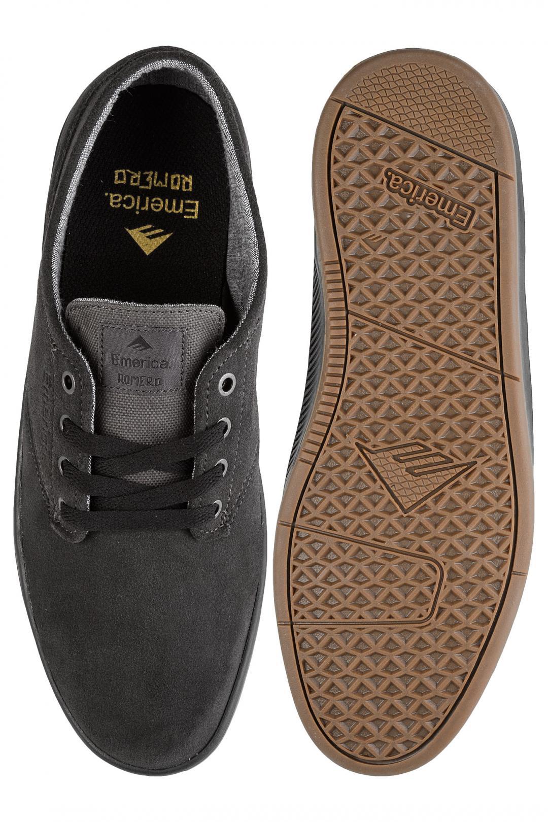 Uomo Emerica The Romero Laced dark grey black gum | Sneakers low top