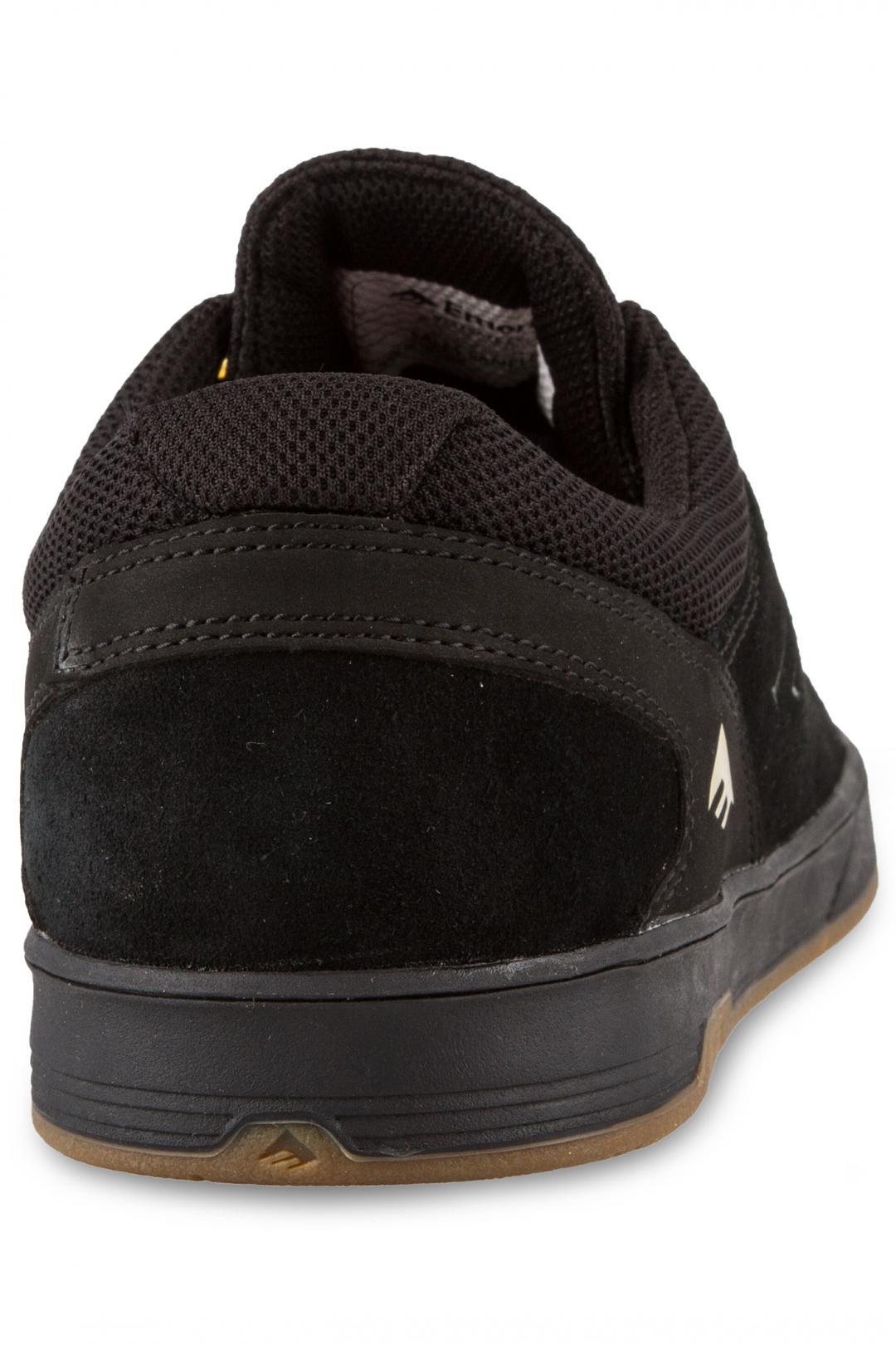 Uomo Emerica The Westgate CC Suede black black gum | Sneakers low top