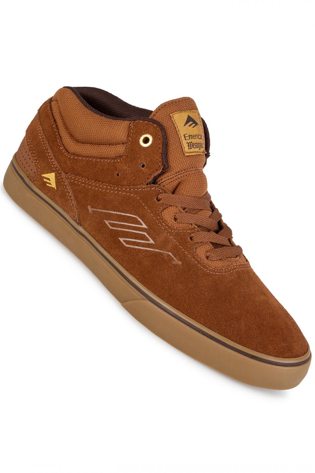 Uomo Emerica The Westgate Mid Vulc brown gum   Sneakers mid top