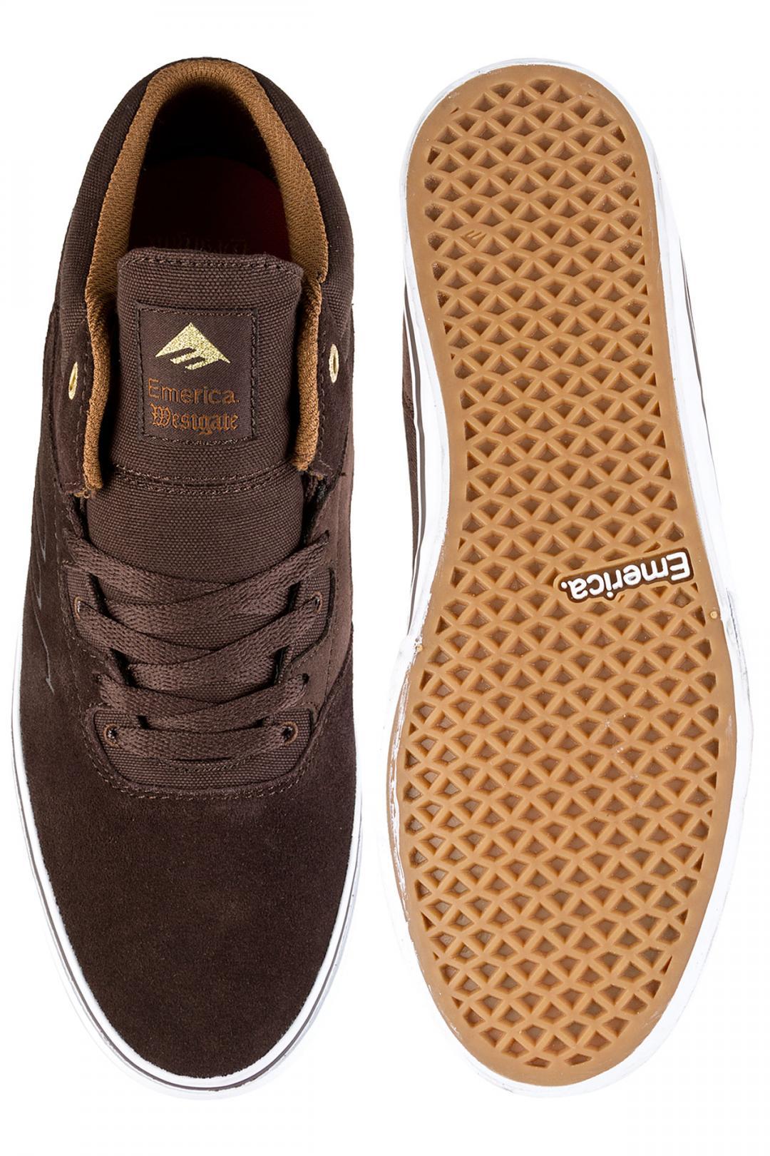 Uomo Emerica Westgate Mid Vulc dark brown | Sneakers mid top