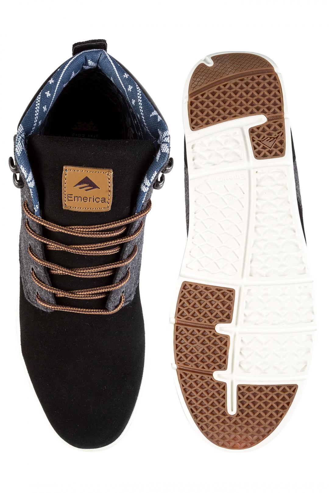 Uomo Emerica Wino Cruiser HLT black white yellow | Sneakers mid top