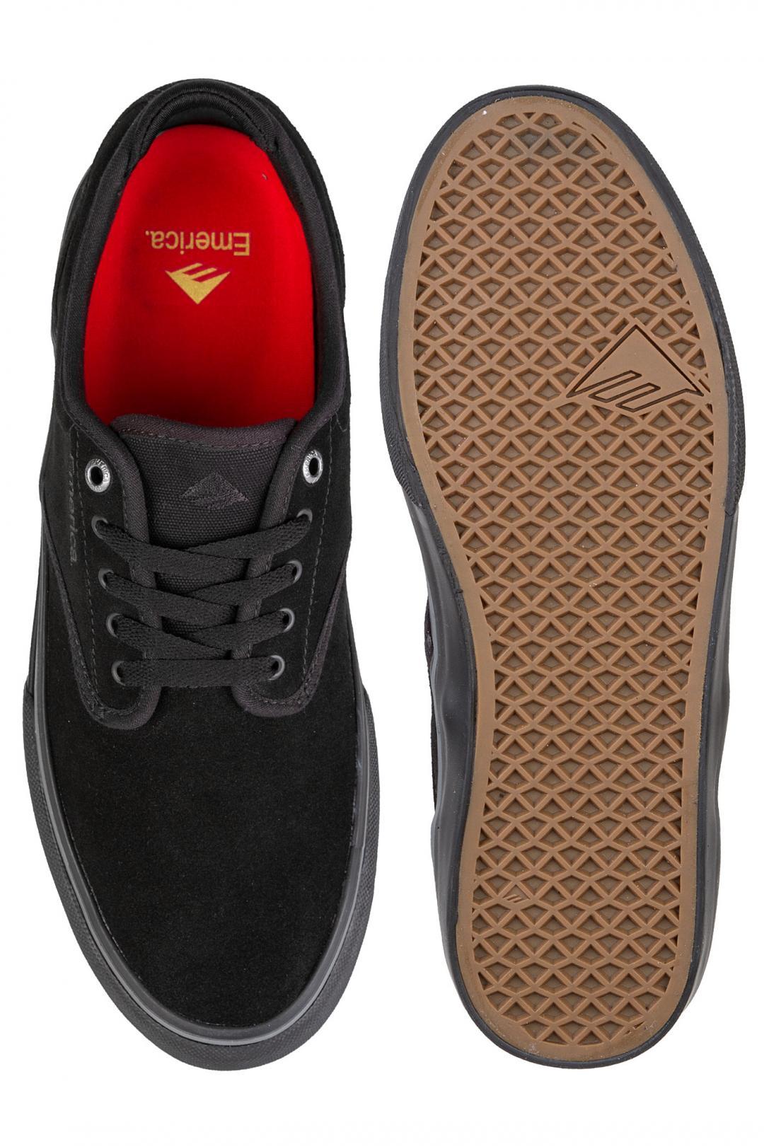 Uomo Emerica Wino G6 black black | Sneaker