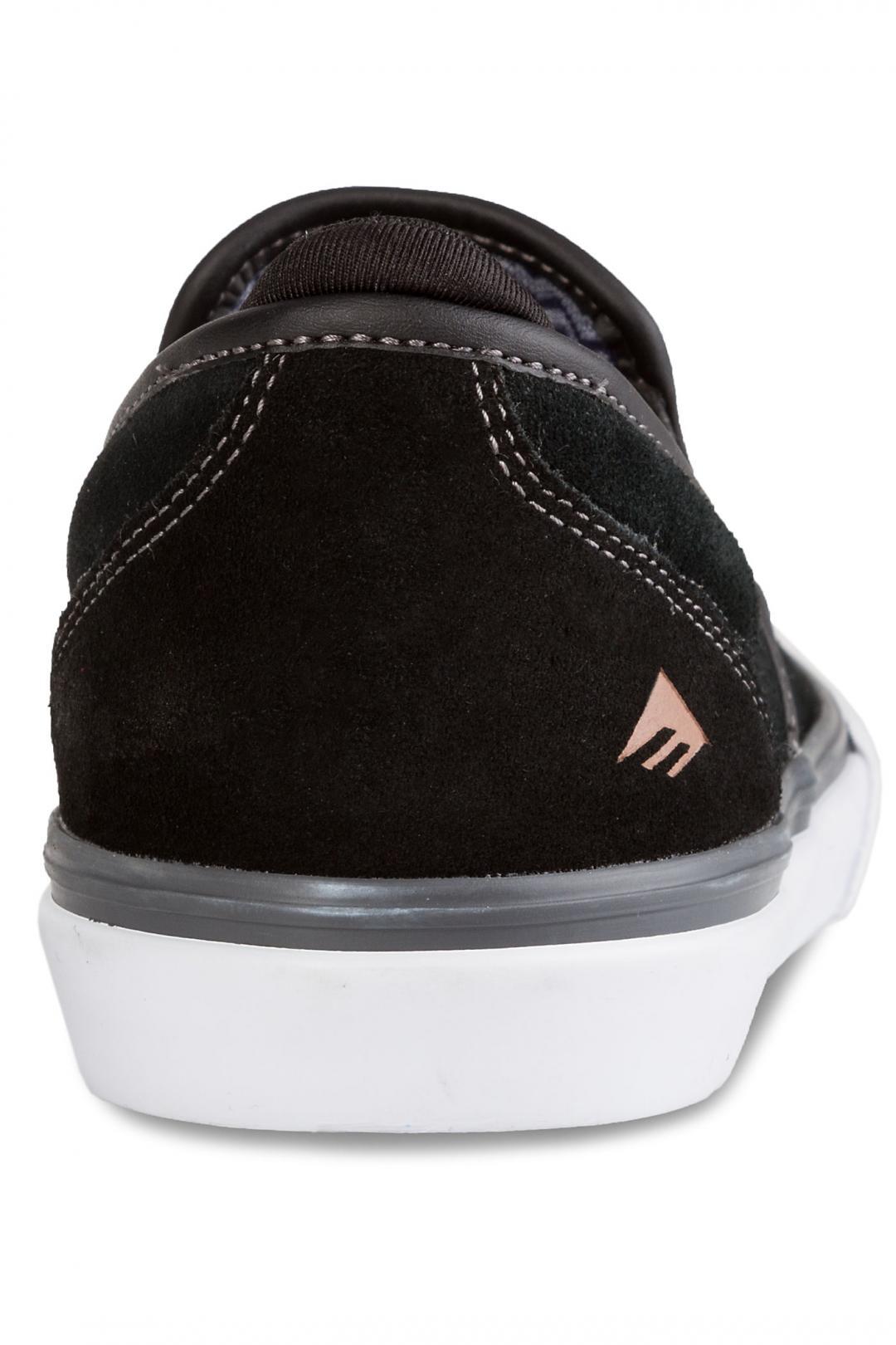 Uomo Emerica Wino G6 Slip-On black grey white | Scarpe da skate