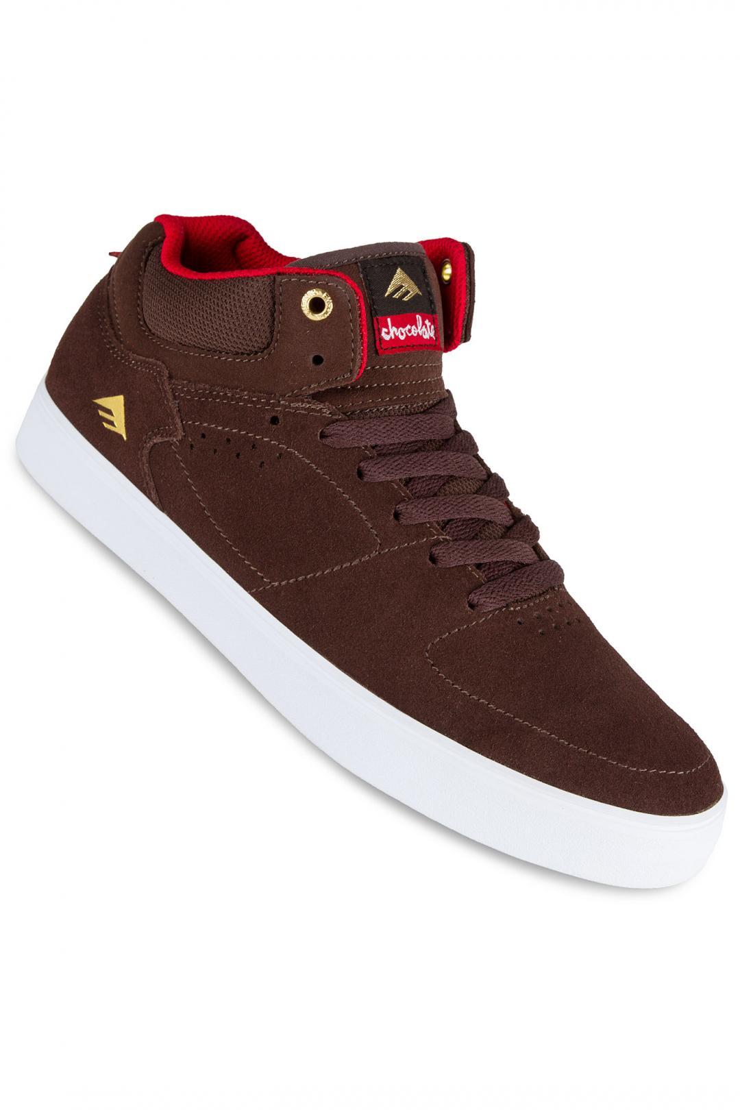Uomo Emerica x Chocolate The HSU G6 brown white | Scarpe da skate