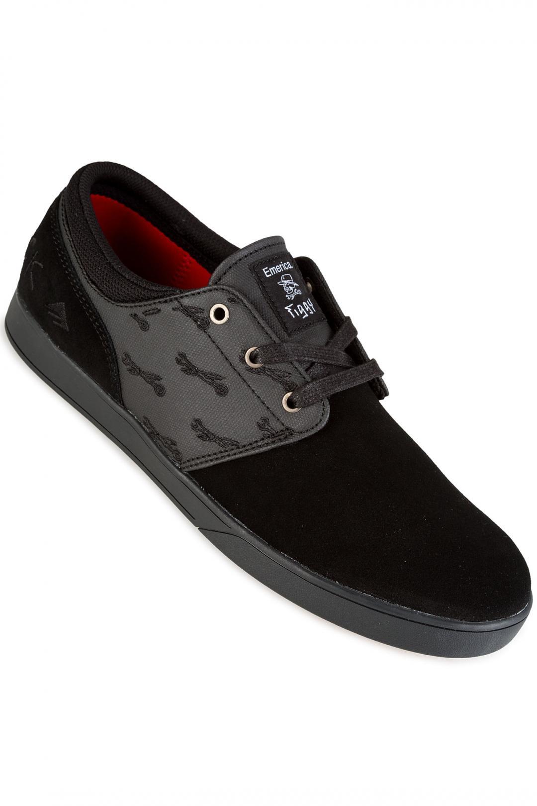 Uomo Emerica x Hard Luck Figueroa black black | Sneakers low top