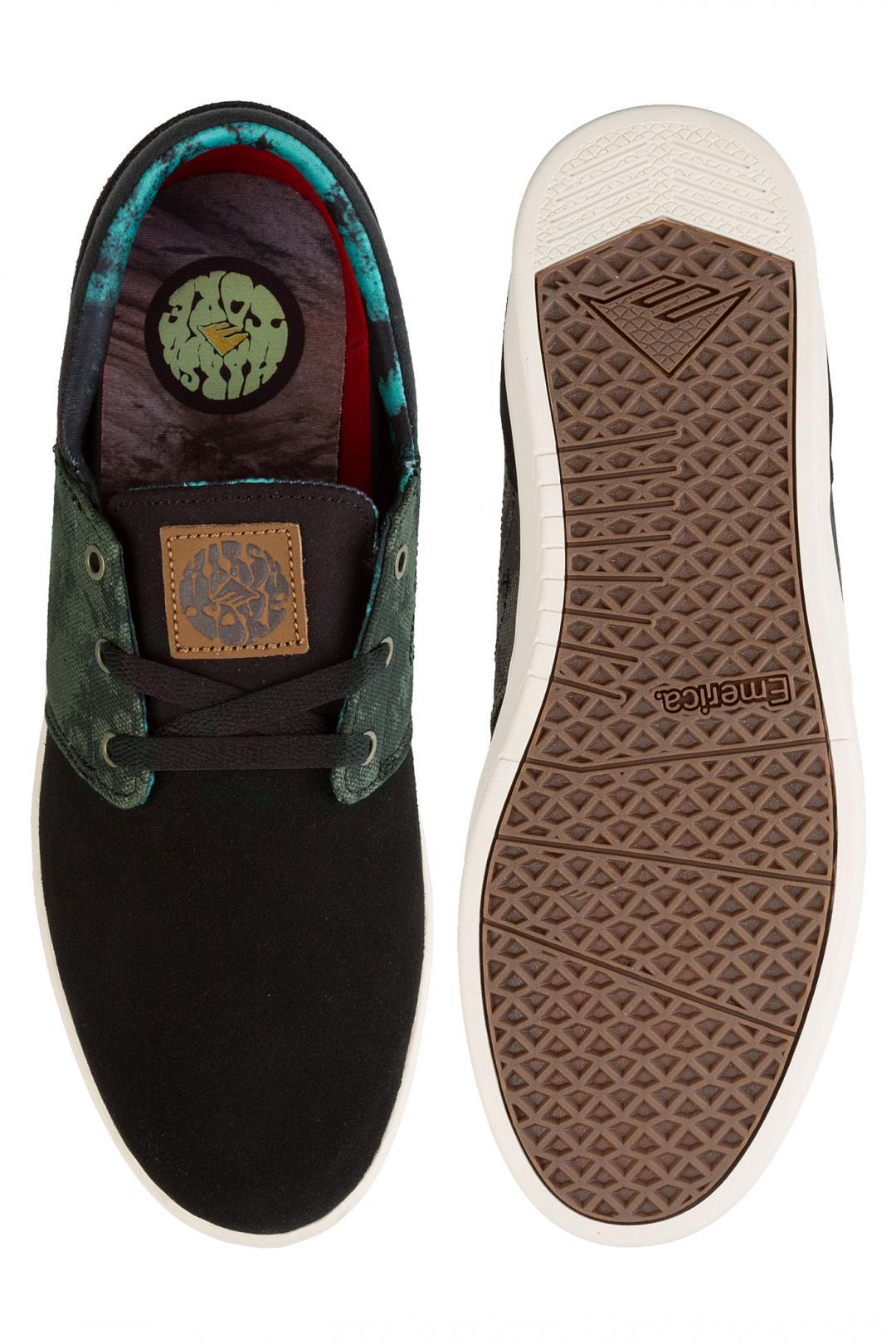 Uomo Emerica x Harsh Toke The Figueroa black green | Scarpe da skate