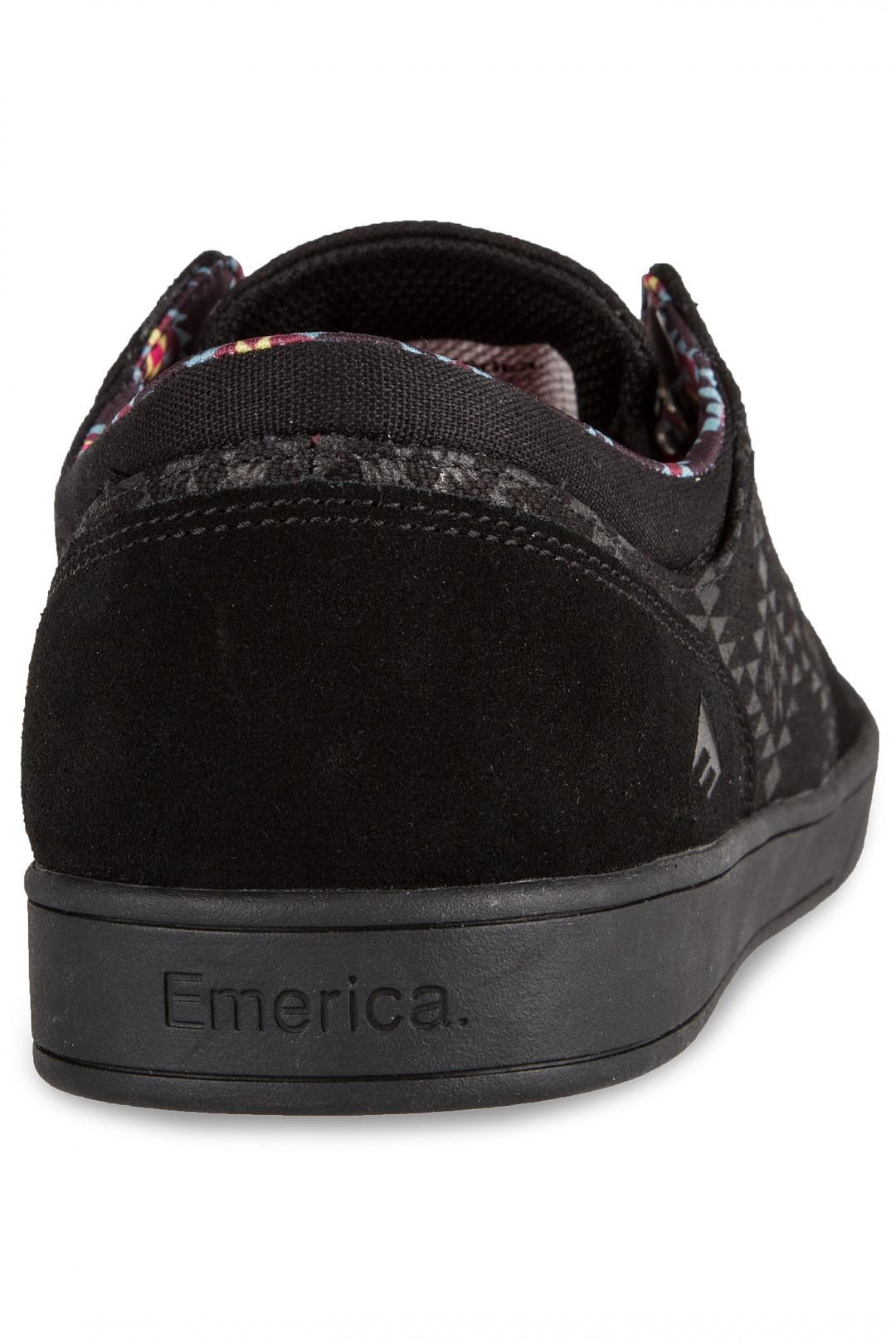 Uomo Emerica x Psockadelic The Figueroa black black print   Sneaker