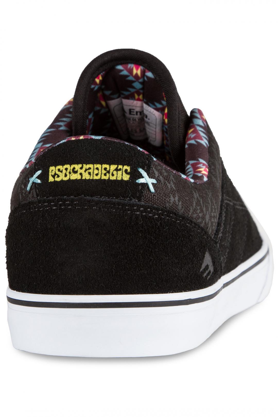 Uomo Emerica x Psockadelic The Herman G6 black print   Scarpe da skate