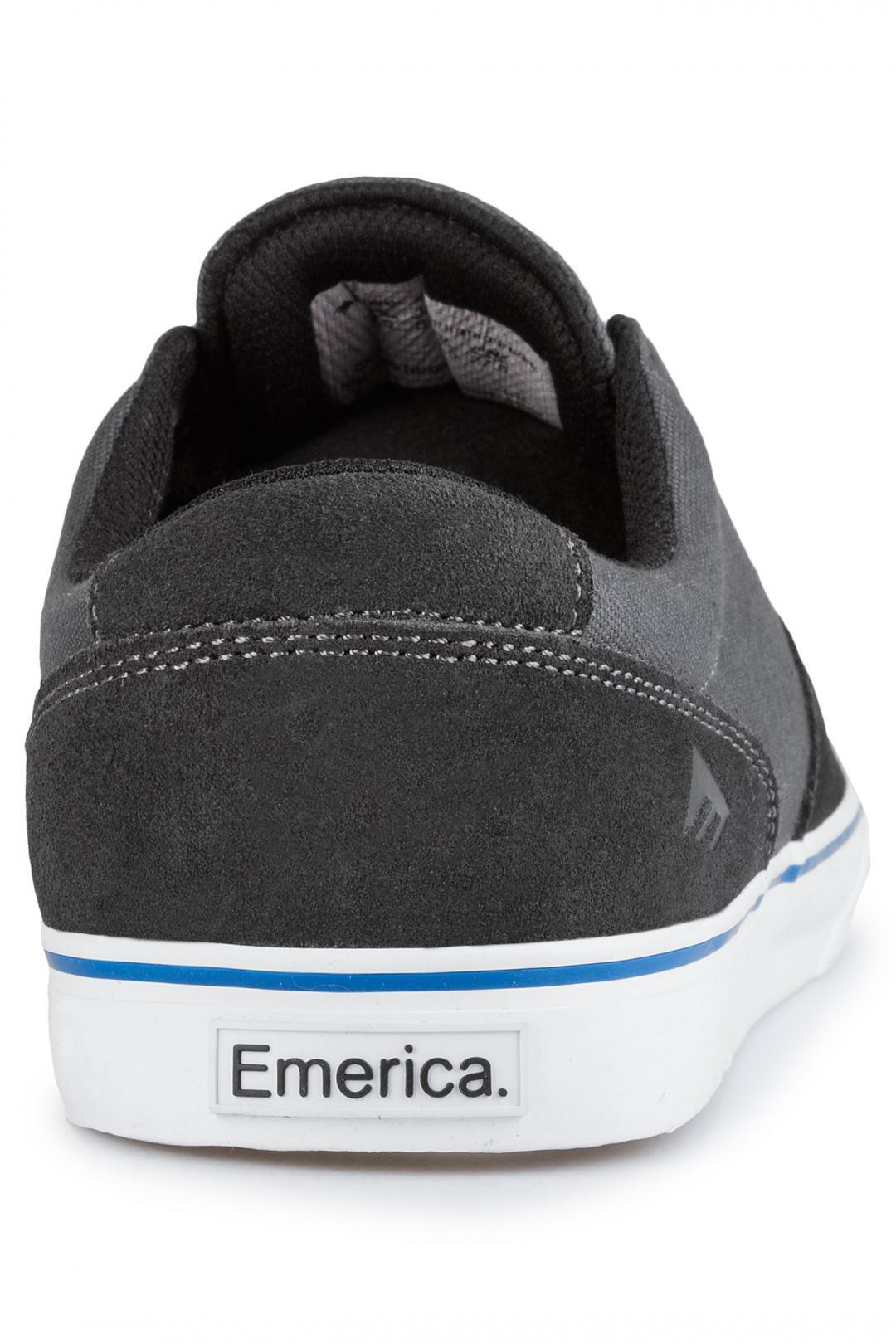 Uomo Emerica x Toy Machine The Provost Slim Vulc black grey   Scarpe da skate