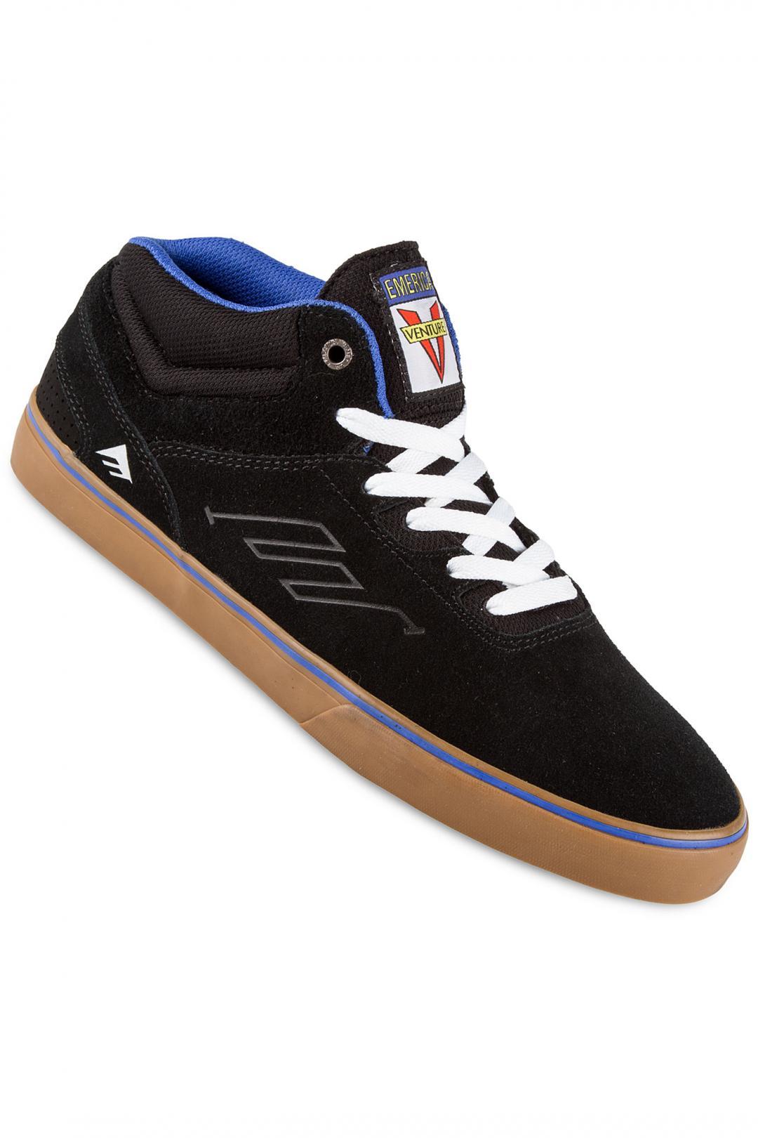 Uomo Emerica x Venture The Westgate Mid Vulc Suede black blue | Sneakers mid top