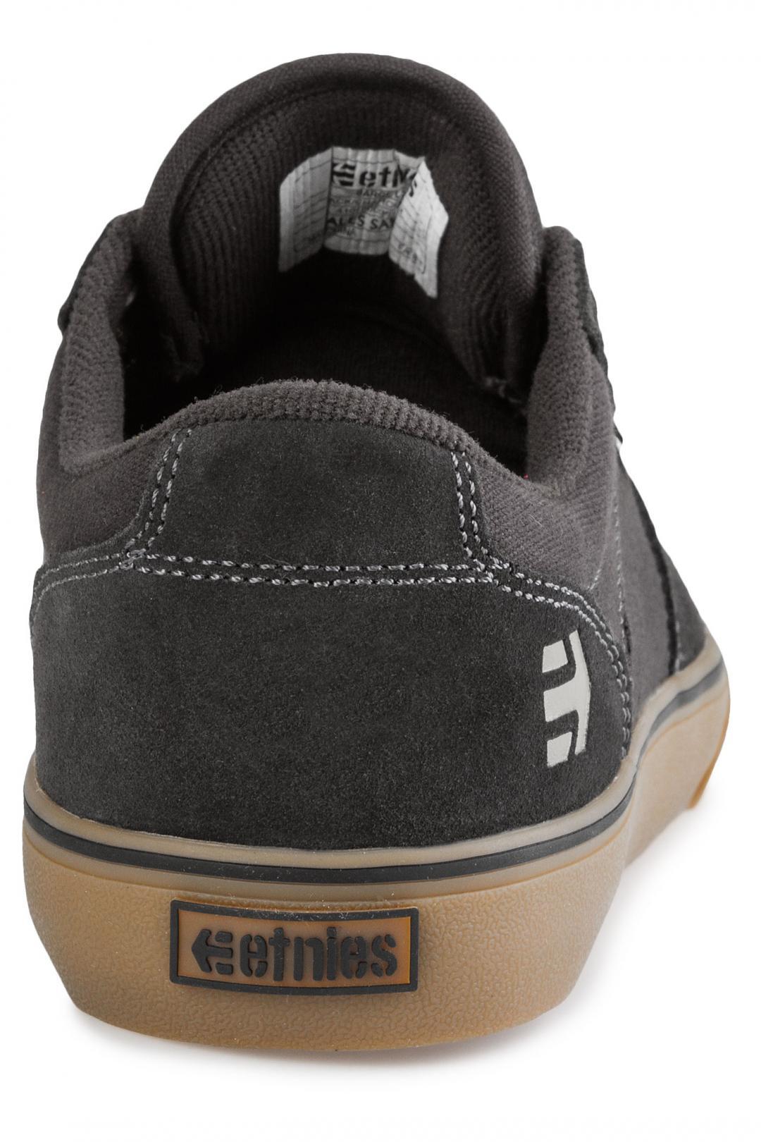 Uomo Etnies Barge LS black charcoal gum   Scarpe da skate