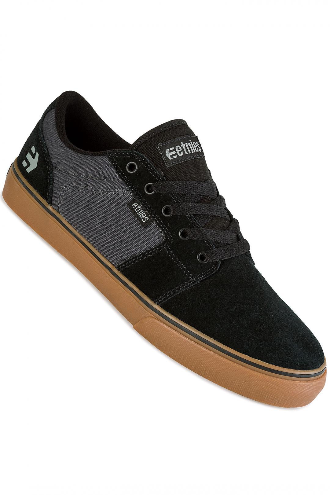 Uomo Etnies Barge LS black dark grey gum | Scarpe da skate