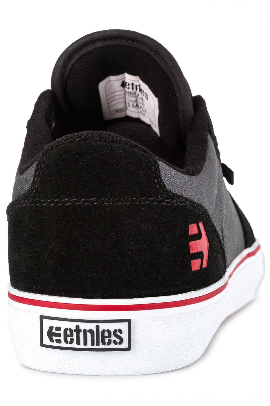 Uomo Etnies Barge LS black dark grey | Sneaker