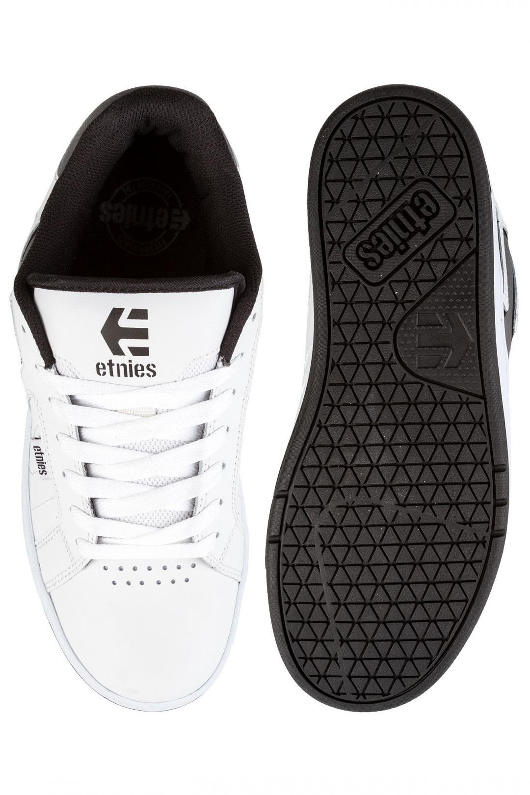 Uomo Etnies Fader 2 white grey black   Scarpe da skate