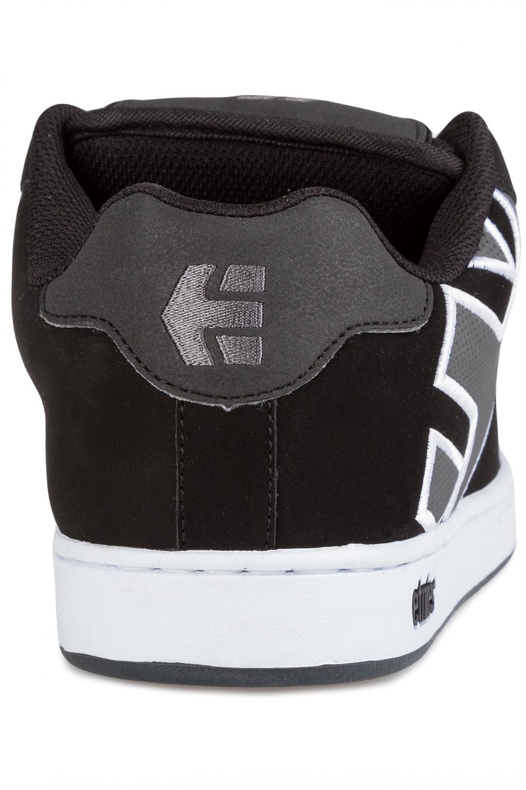 Uomo Etnies Fader black dark grey silver | Scarpe da skate