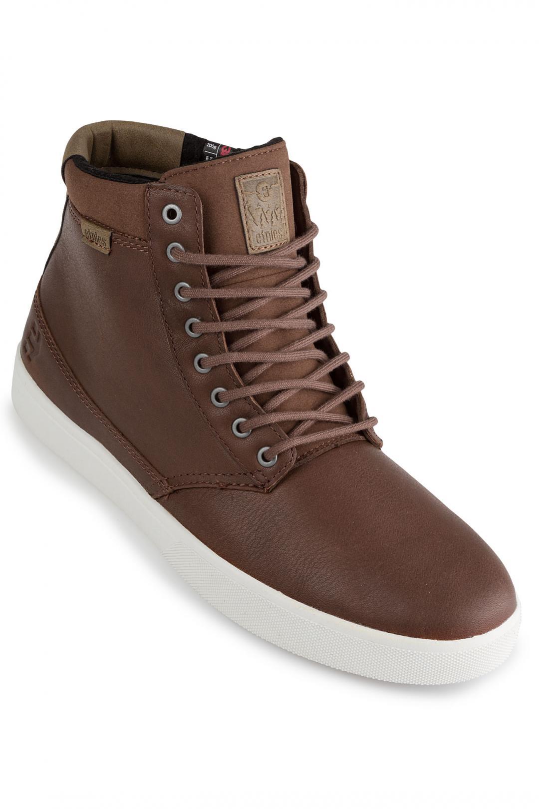 Uomo Etnies Jameson HTW brown tan white | Sneakers high top
